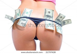 stock photo beautiful women s buttocks in sexy black panties with dollars 21797428 300x210 Проститутки Киева пришли в Интернет